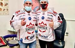 Maxime Fortier Stürmer der Eishockeymannschaft iClinic Bratislava